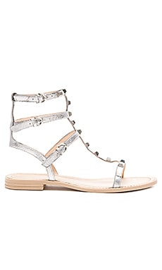 Rebecca Minkoff Georgina Sandal in Silver Metallic