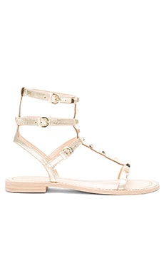 Rebecca Minkoff Georgina Sandal in Gold Metallic