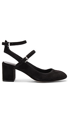 Brooke Heel in Black Kid Suede