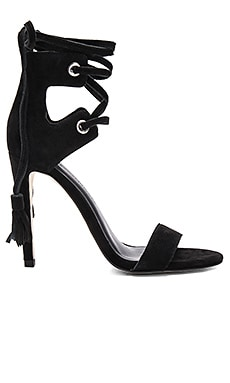 Rebecca Minkoff Riley Heel in Black Kid Suede
