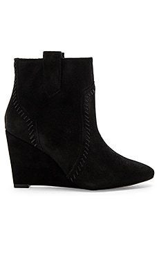Bianca Bootie in Black Oiled Suede