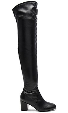 Lauren Boot in Black Stretch Nappa