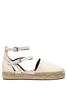 Gina Espadrille in Antique White Nappa