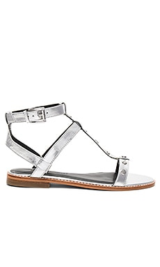 Sandy Sandal in Silver Metallic