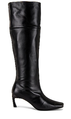 Pointed Square Mid Heel Long Boots Reike Nen $720