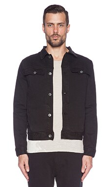 Robert Geller RG Denim Jacket in Black