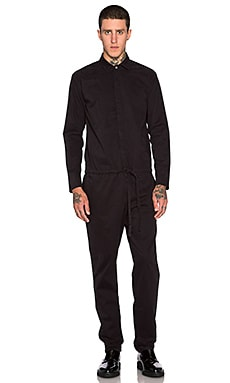 Robert Geller Garment Washed All In One in Black