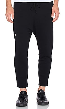 Robert Geller Seconds Crop Sweatpant in Black