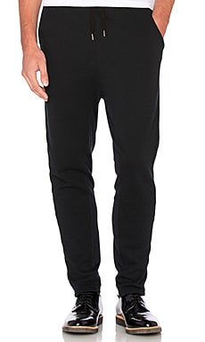 Robert Geller Seconds Slim Sweatpants in Black