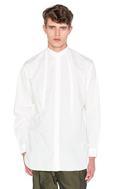 Robert Geller Rope Tie Shirt in Off White