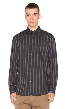Striped Shoulder Pleat Shirt