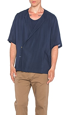 Robert Geller Breezy Pierre Shirt in Navy