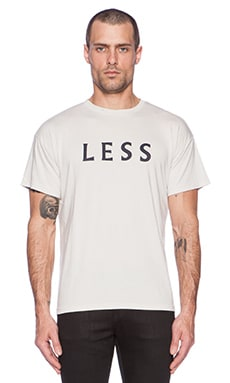 Robert Geller Less More Tee in Off White