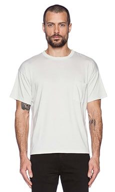 Robert Geller Seconds Pocket Tee in Off White
