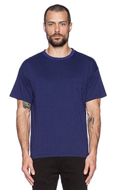 Robert Geller Seconds Pocket Tee in Navy