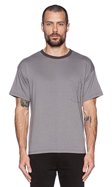Robert Geller Seconds Pocket Tee in Grey