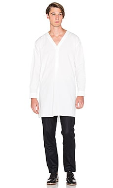 Robert Geller Hermann Night Button Up in White