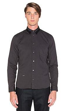 Robert Geller Robert Oxford Button Up in Charcoal