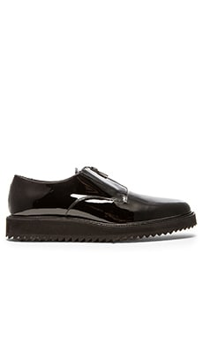 robert geller x common projects zipper dress shoes in black