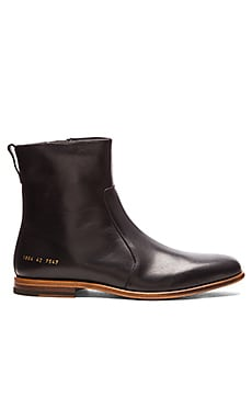 Robert Geller CP X RG Leather Chelsea Boot in Black