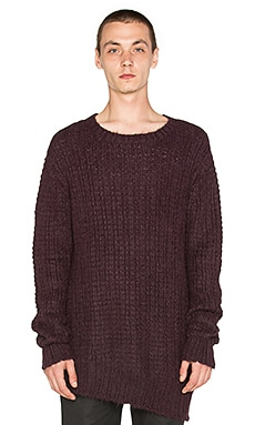 Rochambeau Melt Sweater in Aubergine