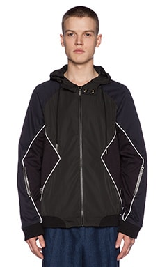 Rochambeau Combo 3M Trim Jacket in Black & Navy