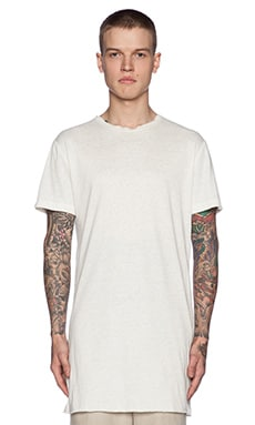 Rochambeau Raw Edge Linen Tee in White