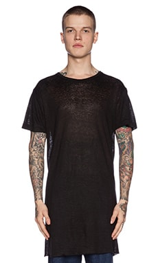 Rochambeau Linen Tee in Black