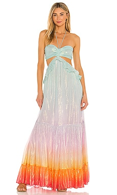 ROBE MAXI LEAL ROCOCO SAND $422 BEST SELLER