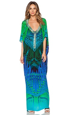 ROCOCO SAND Crepe Caftan in Night Jungle