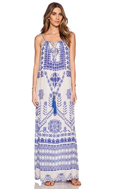ROCOCO SAND Back to Greece Maxi Dress in Cross Print