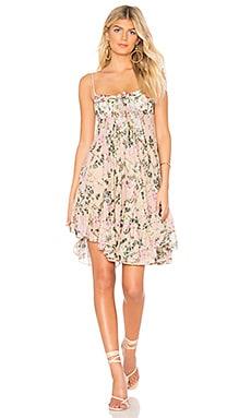 x REVOLVE Flora Mini Dress ROCOCO SAND $124