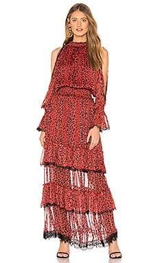Фото - Платье - ROCOCO SAND красного цвета