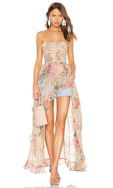 Melody Strapless Dress ROCOCO SAND $455 BEST SELLER