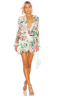 Isa Wrap Dress ROCOCO SAND $319 BEST SELLER
