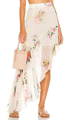 x REVOLVE Lenora Skirt ROCOCO SAND $134