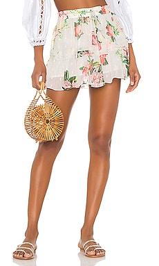 x REVOLVE Lenora Mini Skirt ROCOCO SAND $129
