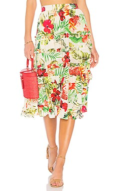 x REVOLVE Aloha Skirt ROCOCO SAND $80 (FINAL SALE)