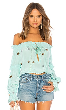 x REVOLVE Off the Shoulder Top ROCOCO SAND $275