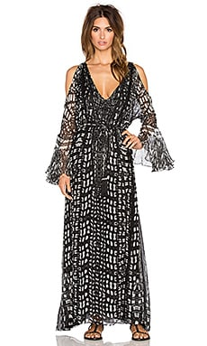 ROCOCO SAND Night Lizard Maxi Dress in Black