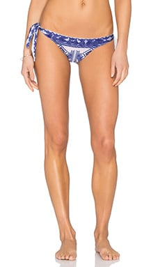 ROCOCO SAND Fringe Triangle Bikini Bottom in Mexico Print