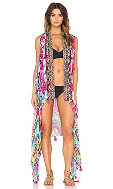 ROCOCO SAND Mexico Color Printed Embroidered Vest in Multi