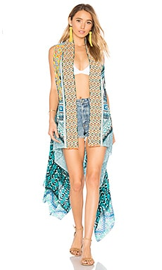 Printed Cape in Green