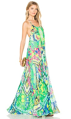 Long Watercolor Dress in Colorful