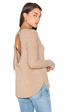 Circle Back Sweater in Heather Camel