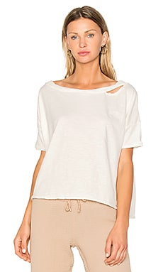 Off Shoulder Box Tee en Blanc