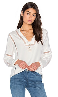 ROI Ladder Trim Blouse in Ivory