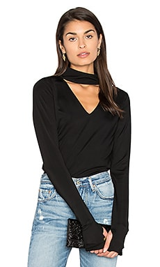 Sexy Jersey Cut Out Tee in Black