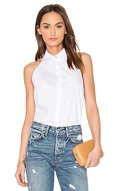 Купить Топ с кружевной вставкой на спине - ROI белого цвета