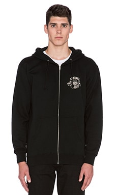 Roland Sands Design Master Machine Zip Hoodie in Black